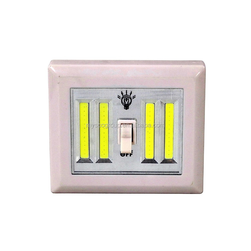 4 COB Light Switch Cordless light with dimmer Night Light Wall Switch Wireless Battery LED Lamp