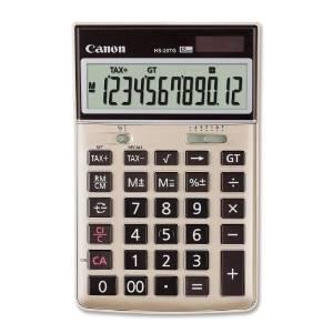 "Wholesale CASE of 10 - Canon HS-20TG 12-Digit Desktop Calculator-12-Digit Calculator, Dual Power, 4-1/8""x6-1/2""x1-1/3"", BK"