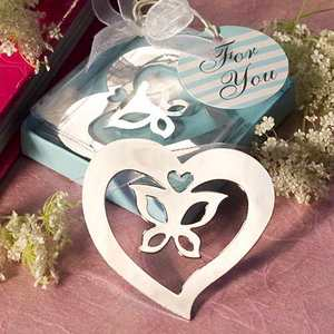 Hot sale heart butterfly bookmark indian party wedding favors and gifts for guest