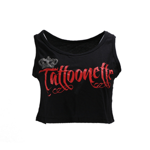 Design dance crop tank tops custom print crop top women vest