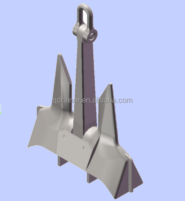 250kg to 25ton HHP (HY-14) AC-14 stockless anchor /danforth anchor