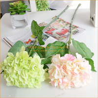 AFHA01-83-5L lone stem artificial hydrangea flower for wedding arrangement