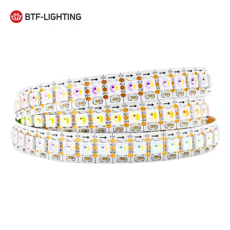 SK6812 RGBW WS2812B <strong>RGB</strong>+White 4 Colors in 1 LED Individually Addressable 1m 144LEDs/pixels/m Flexible Dream Color LED Strip DC5V