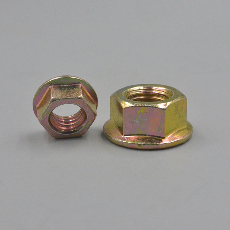 Factory direct selling anti-loose anti-slip locking hex head flange weld nut