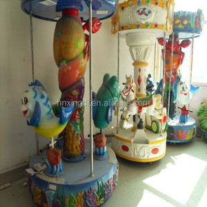 Outdoor amusement park equipment 3 seats kids carousel for sale