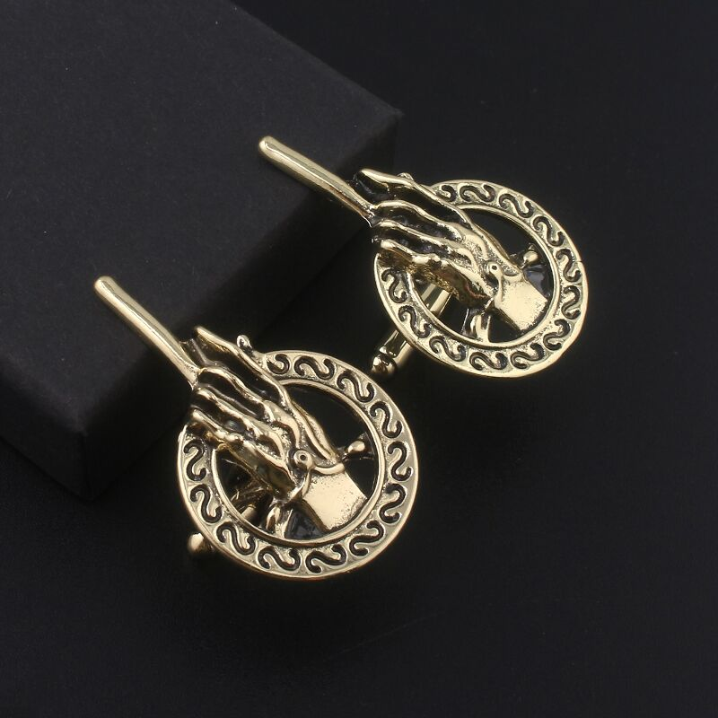Tv Show Game of Thrones Tie Clips Hand Of The King cuff links