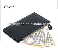 New british style black business cardholder&money clip for men