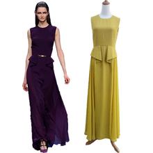 New season comfortable chiffon fabric maxi dress 2016 evening dress