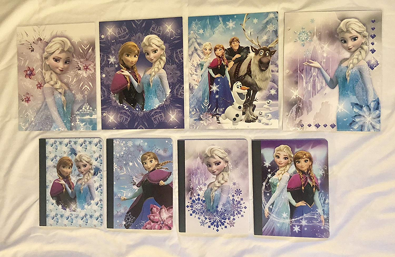 Frozen Two Set Bundle of 1-Composition Notebook (1-Subject/80 Sheets) 1-Folder (2-Pocket/3-Hole Punch/Paper) FOLDER/COMPOSITION BUNDLE (Different Images)