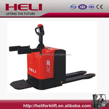 China Top1 Anhui Heli Brand 2ton stand-on electric pallet truck