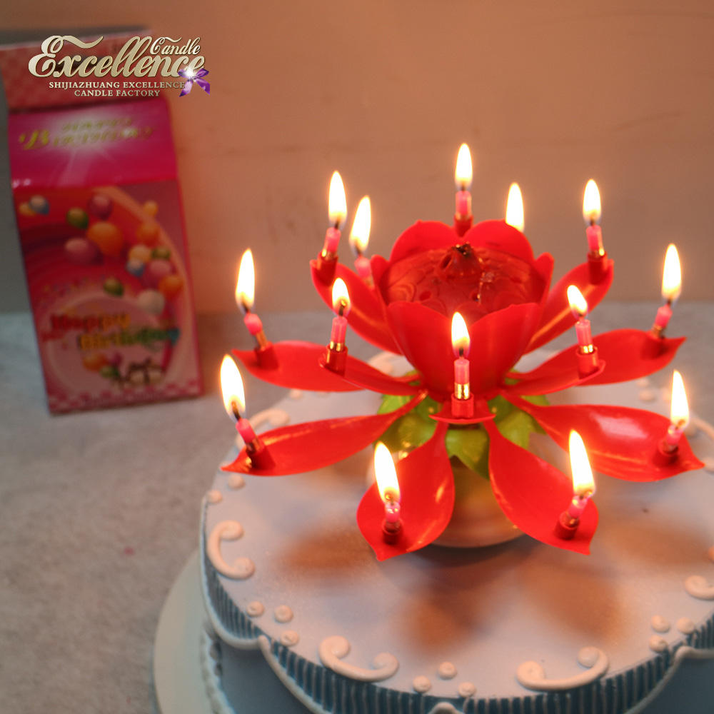 Moderate Unique Lotus Flower Blooming Make Birthday Candles Cheap Price Machine Making Candle