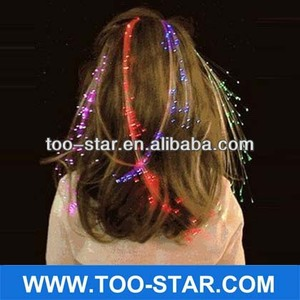 Halloween Hair Flip with Flash Light Braids Birthday X'mas Party Novelty Decoration