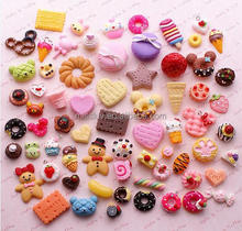 PVC biscuit imitation food charms pendant 3D resin food promotional gifts