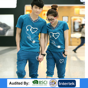 a9693771947 100% cotton couple t-shirt for lovers   love couple short sleeve tshirt