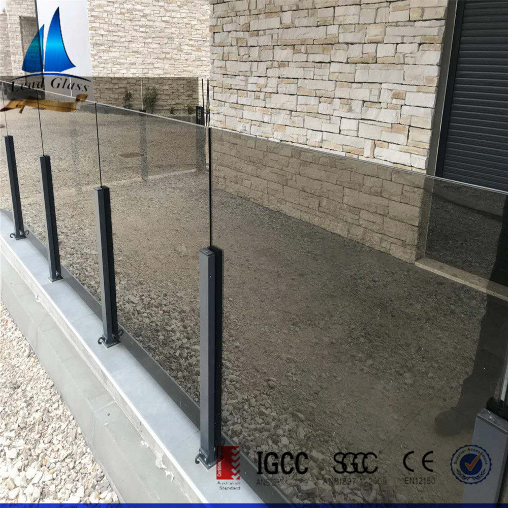 AS/NZS 2208 10mm &12mm Custom Size Clear & Colored Laminated Glass Price For Balustrade Railing