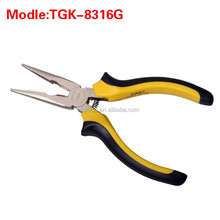 TGK-8316G mini-needle nose pliers 4.5 inch multi-function two-color electrician tip Tsui clamp