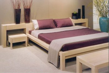 Double Bed With Headboard And Side Table Set - Buy Single Bed ...