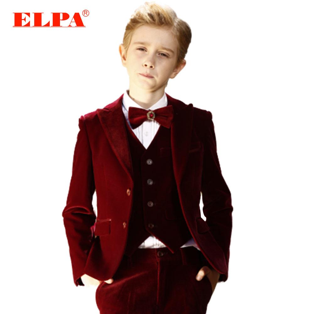 ELPA high quality slim velvet sweat boys dress wedding party suits and tuxedo фото