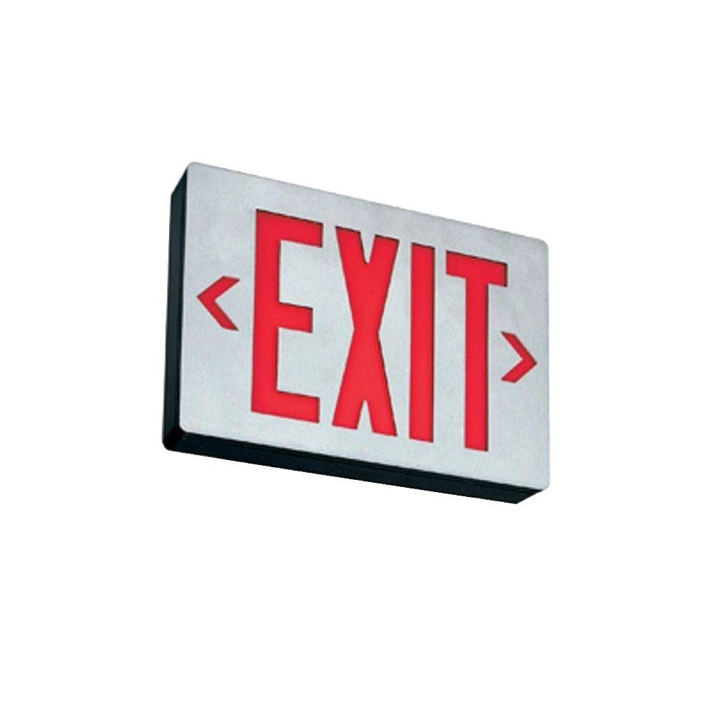 Lithonia Lighting LE S 2 R 2W LED Exit Sign, Silver