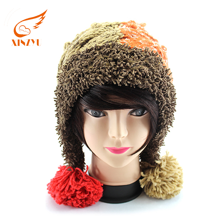 Customized cute funny adult animal winter hats fleece eyeholes beanie hat 13401d5a758