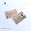 Best selling screen printing wood business credit card usb flash