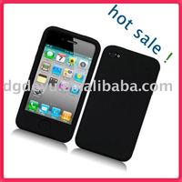 BLACK SOFT SILICONE CASE COVER SKIN FOR IPHONE 4 4G HD for iphone4&4G(high quality)