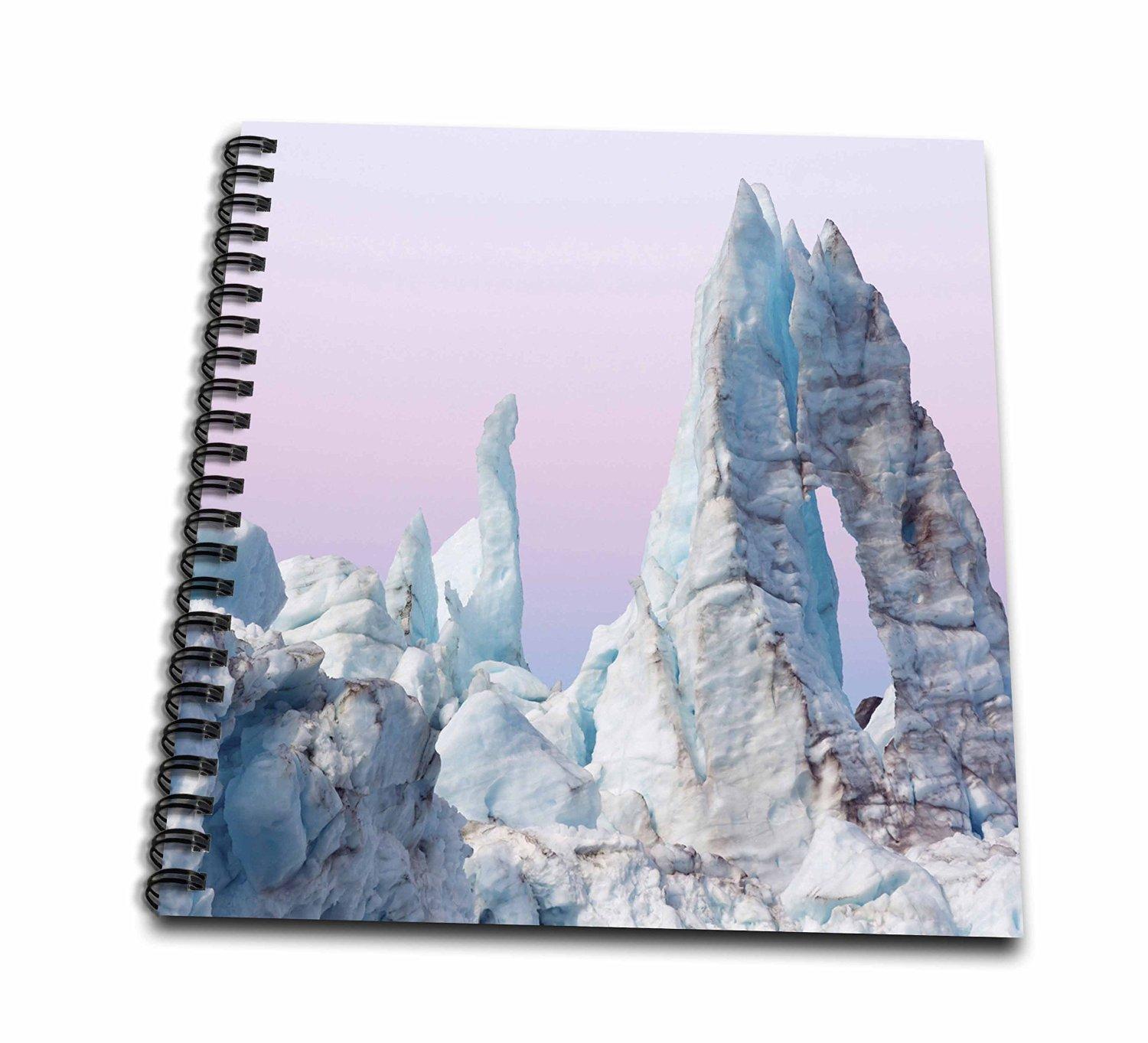3dRose db_190770_3 USA, Alaska, Glacier Bay NP. Margerie Glacier ice formations.-Mini Notepad, 4 by 4""