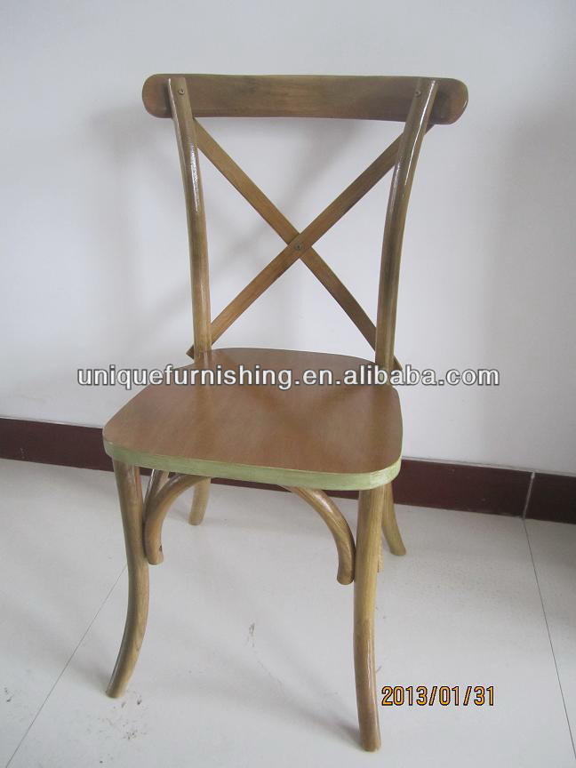 New Design Oak Wood Stacking Cross Back Chair For Banquet Chair ...