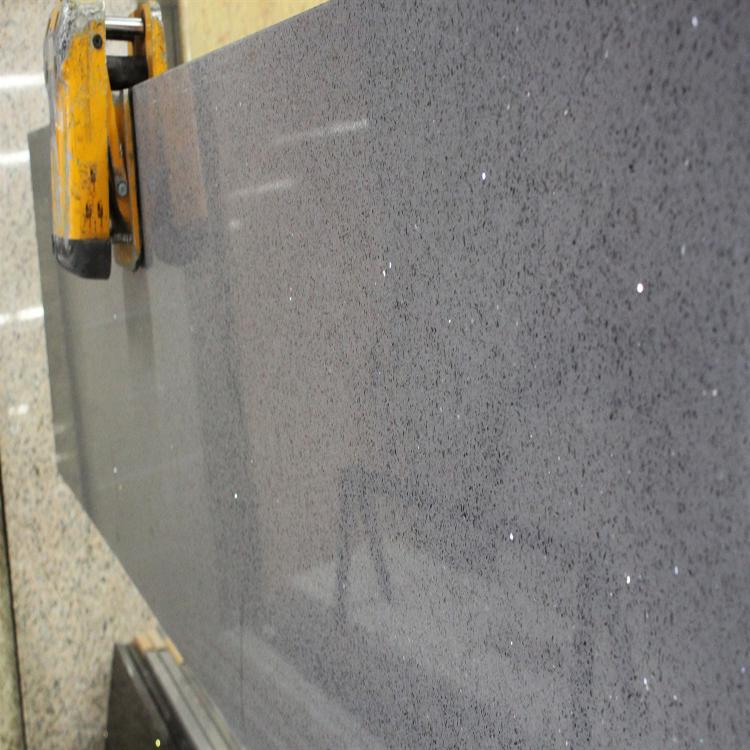 Hot Solid Color Granite Countertop Grey Sparkle Quartz