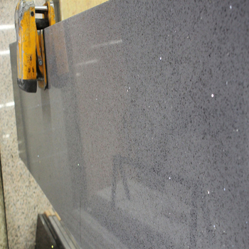 Hot Solid Color Granite Countertop Grey Sparkle Quartz