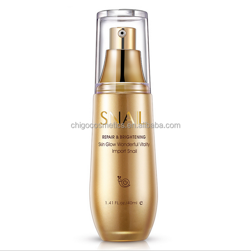 Facial skin moisturizer essence repair and brightening snail serum OEM/ODM