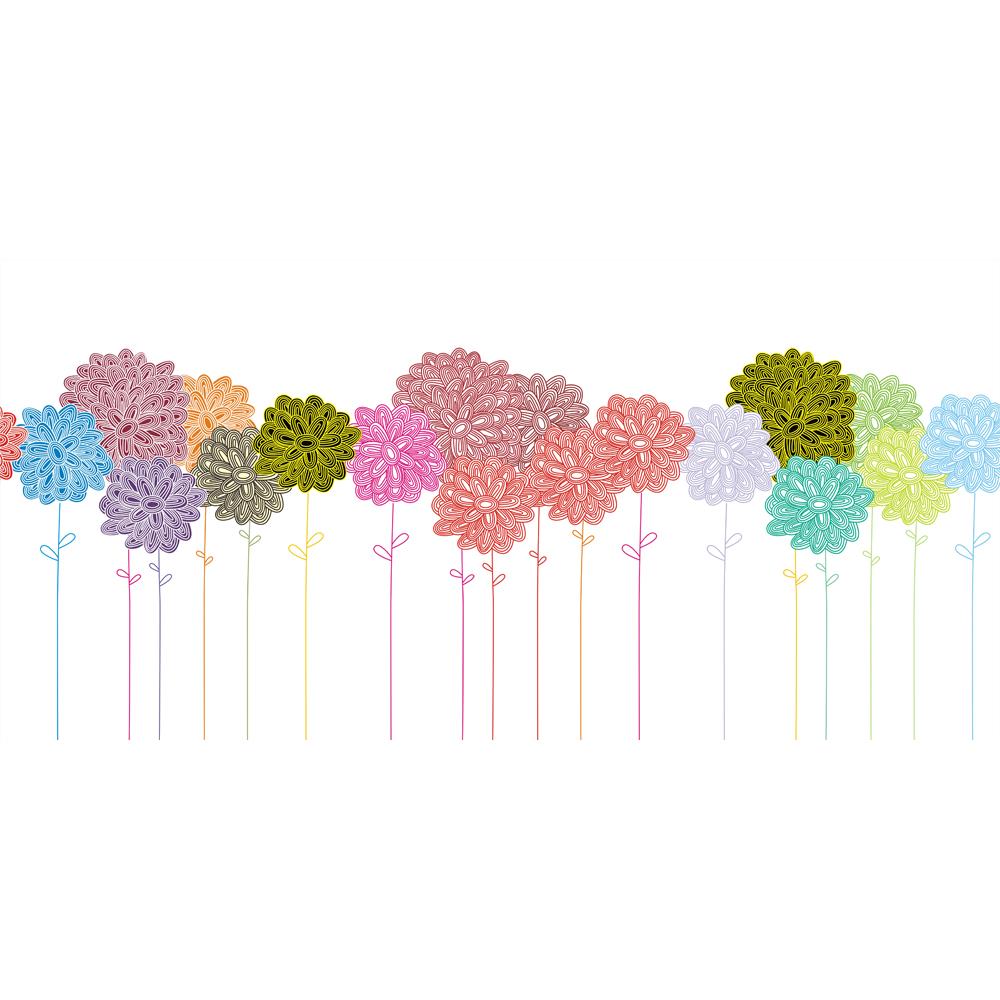 새로운 디자인 다채로운 꽃 패턴 벽 장식 거실 침실 TV 배경 ...