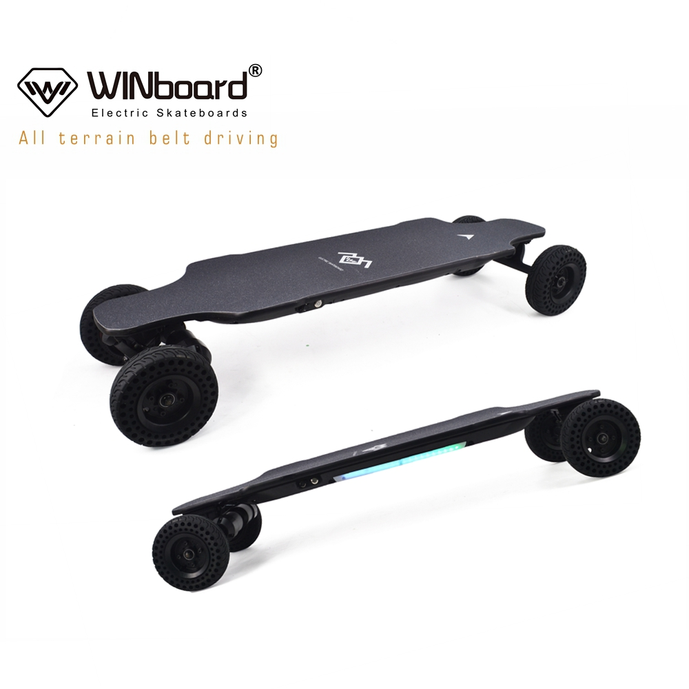 WINboard 10s3p 9AH battery GTM PRO 6 inch rubber wheels 2000w N5065 dual belt motor all terrain off road electric skateboard
