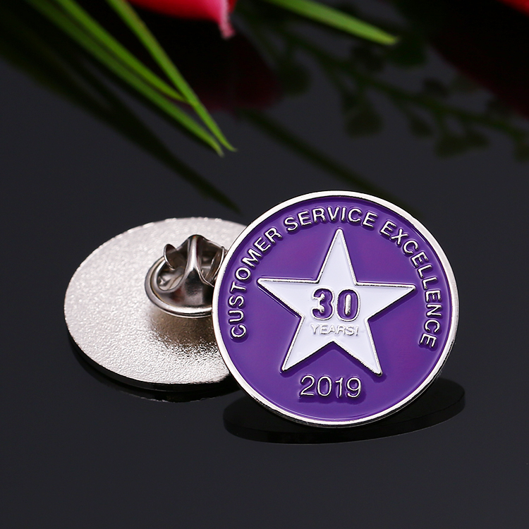 Wholesale cheap custom your own logo soft enamel lapel pin for souvenir 30th anniversary