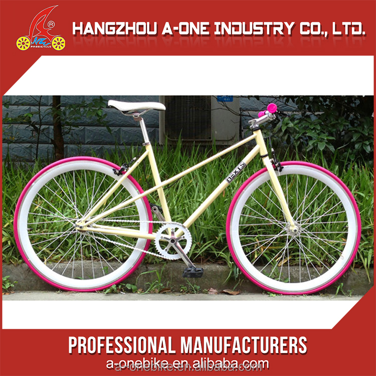 Normal Ladies 3 Speed Aero Spoke Wheel Fixed Gear Bike Bicycle