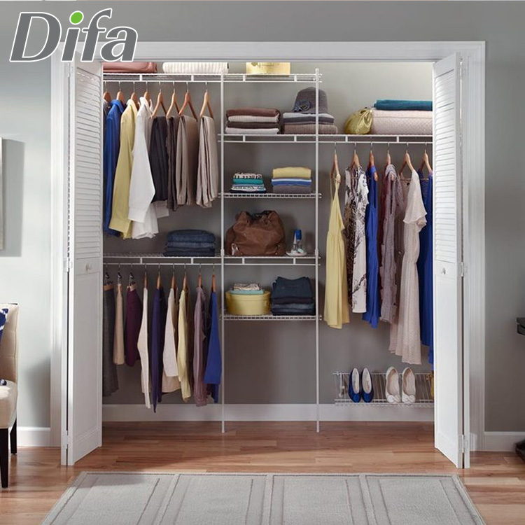 Custom Top Quality Walk In Closet Storage Systems Material Wardrobe