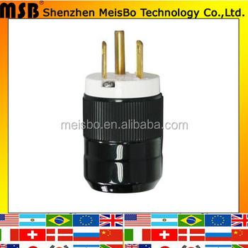 Multifunction 2p+e Ip20 125v 15a Nema L5-15p 3pins Three Phase Industrial  Plug - Buy Three Phase Industrial Plug,Nema 5-15p Plug,Nema 5 30 Plug