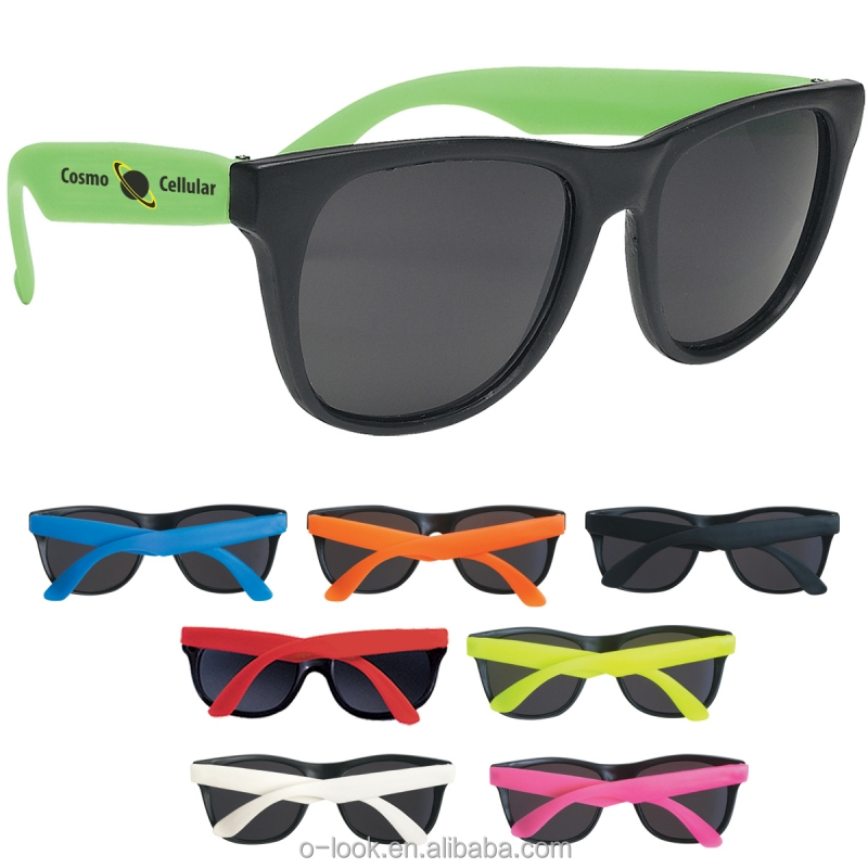 80's High Quality Neon Rubber Promotioal Sunglasses