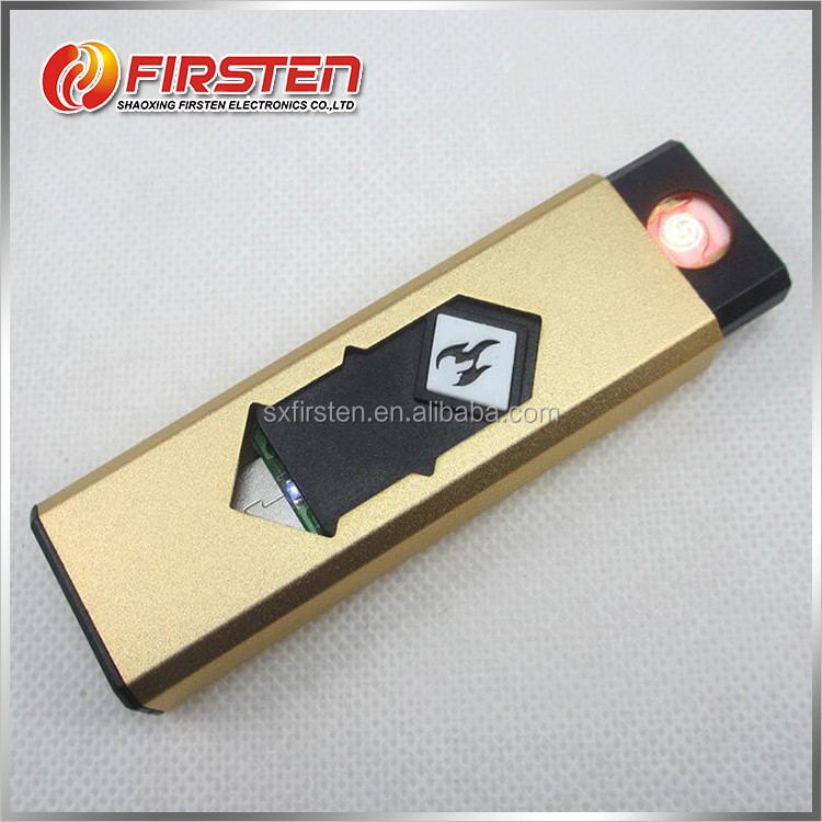 Custom Made Rechargeable ABS e lighter usb powered cigarette lighter