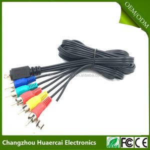 Mini Din 10 Pin to 6RCA round cable
