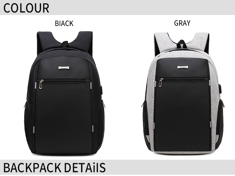 New professional nylon computer laptop backpack with zip