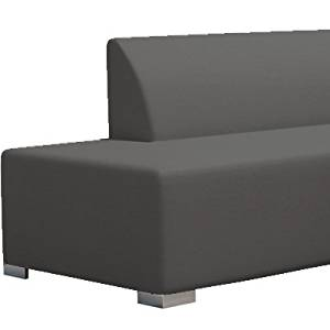 AuthenTEAK 2-Piece Angle Luxury Modern Deep Seating Sectional - (Graphite)