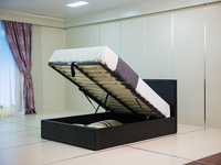Modern Soft Black PU PVC Lift Up Storage Bed #1504