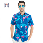 Digital Print Custom Pattern Wholesale Camisa Masculina Men Plus Size Beach Hawaiian Shirt