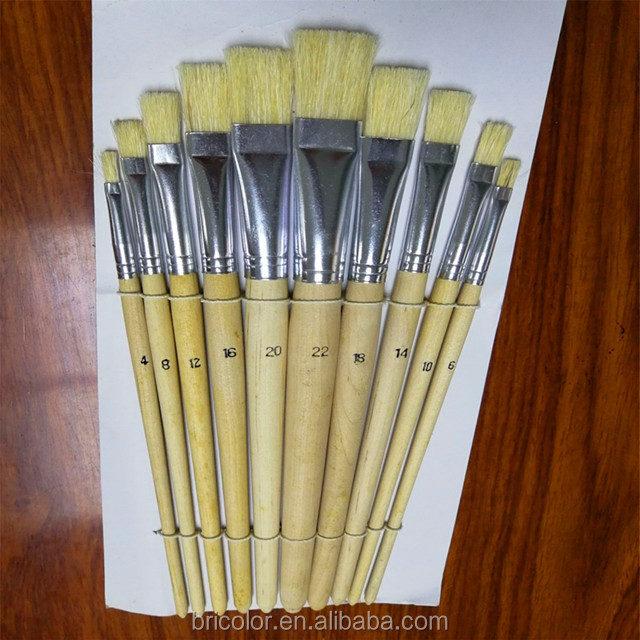 Short Wooden Handle Artist Brush Set