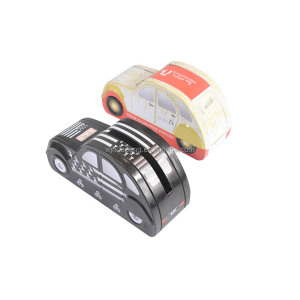 custom-made lovely car shape tin coin bank/piggy bank money saving box for kids