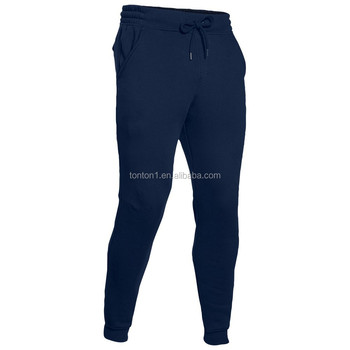 Custom navy blue cotton jogger pants plain polyester sweatpants