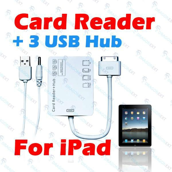 5 in 1 USB 3 Ports Hub Camera Connection Kit SD MMC TF MS M2 Card Reader For Apple iPad