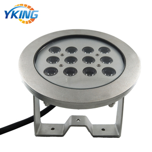 316L Stainless Steel 36W Waterproof IP68 RGB LED Glass Water Fountain Light