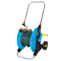 15m/20m garden water hose reel cart 1inch with telescopic handle and two wheels